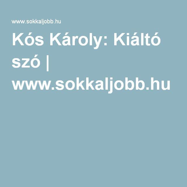 Kós Károly: Kiáltó szó | www.sokkaljobb.hu