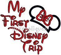 """My First Disney Trip"" - Ears & Bow - 5x7 6x10"