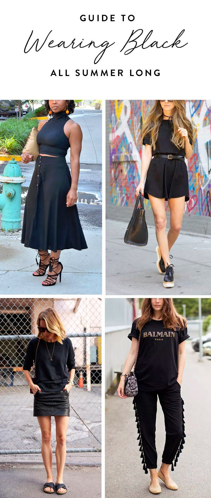 7 Styling Tips So You Can Keep Wearing All Black This Summer via @PureWow