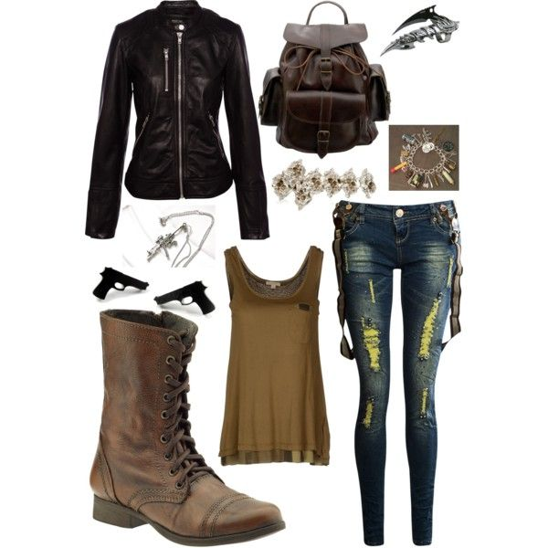 This is not really good for Zombie appocolypse wear so ill keep it as a cute/chic/cool outfit idea