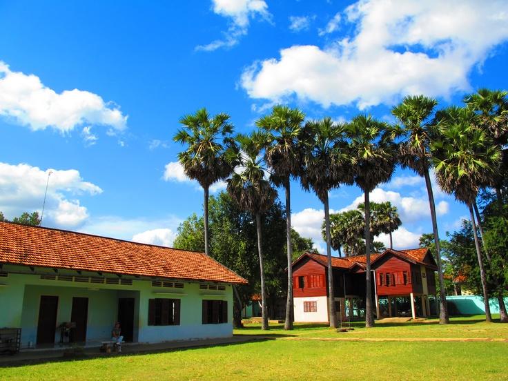 Clear blue sky in Kampung Speu, Cambodia