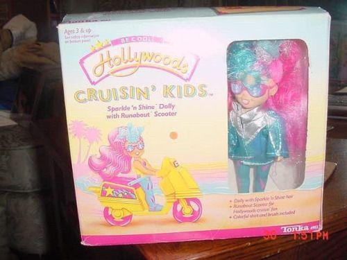 Vintage Tonka Hollywoods Cruisin' Kids Doll Sparkle 'n Shine Dolly Scooter 1988 (via eBay)