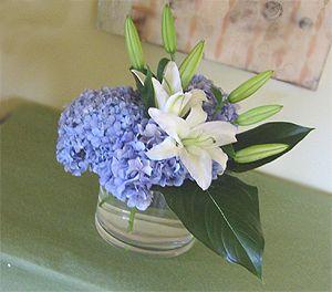 hydranga and lily