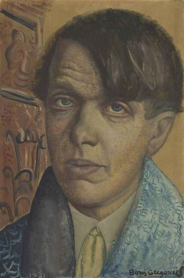 Boris Grigoriev - Self-portrait, 1931, gouache,...
