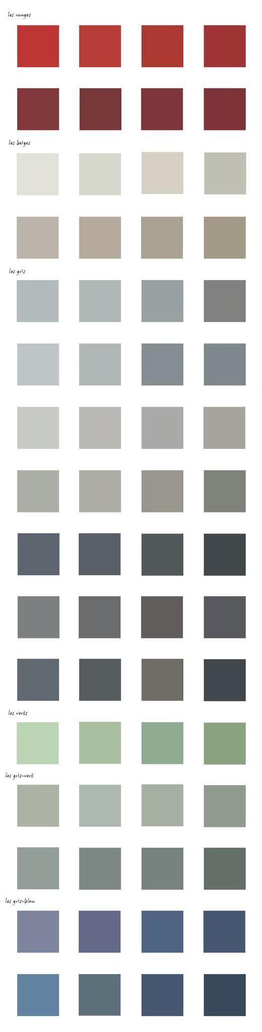 Historiquement, les couleurs utilisées pour les menuiseries se sont éclaircies au cours des siècles. Ainsi il convient d'utiliser des teintes soutenues (gris-vert ou gris-bleu sombres ; rouge sang de bœuf) pour le bâti datant d'avant le XIXe siècle, alors que des teintes plus claires (gris, gris-vert , gris-bleu clairs, mastic) sont à privilégier pour le bâti du XIXe siècle et de la première moitié du XXe siècle.