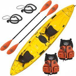 Ocean Kayak Malibu 2XL Tandem Kayak Deluxe Fishing Package