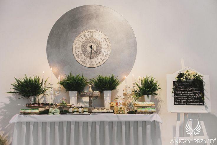 7. Irish theme Wedding,Sweet table decor,Fern / Irlandzkie wesele,Dekoracja słodkiego stołu,Paproć,Anioły Przyjęć