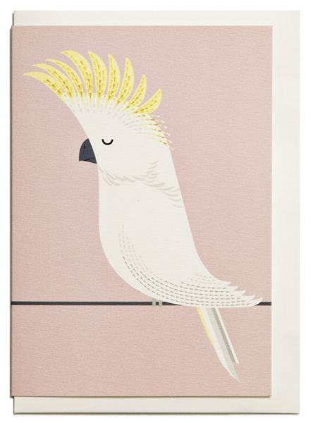 Cockatoo greeting card - I Ended Up Here