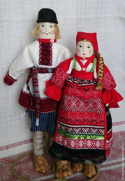 Народные куклы ручной работы. Ярмарка Мастеров - ручная работа. Купить Калужская крестьянская пара. Handmade. Разноцветный, ручная работа