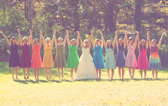 INSPIRAÇÃO: Casamento das cores do arco-íris