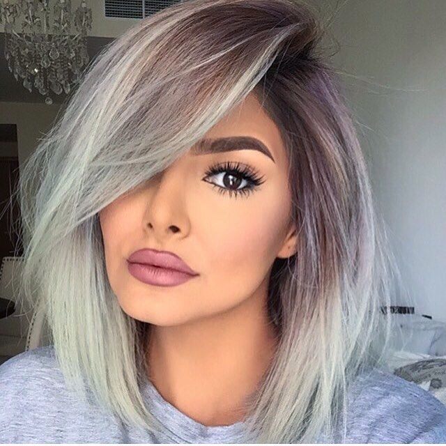 Grey ombre without the overly made up makeup