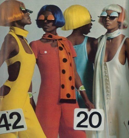 André Courrèges 1968 Collection in Vogue Paris.