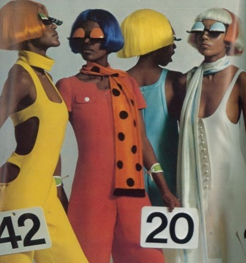 Oh. My. Goodness.  André Courrèges 1968 Collection in Vogue Paris.