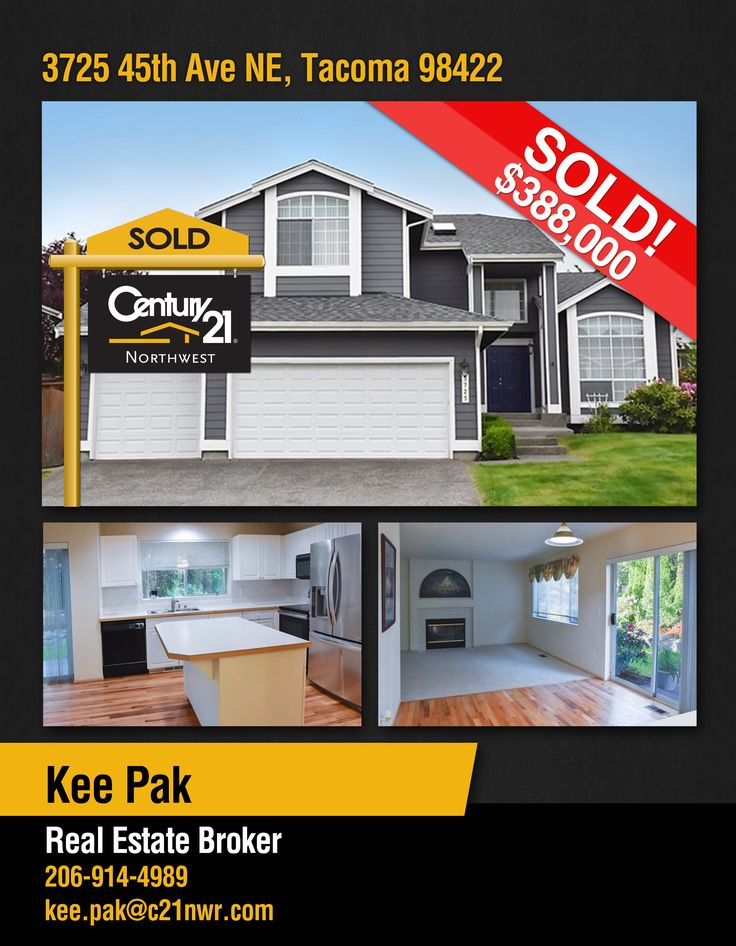 #SOLD  Congrats to KEE Pak & to the new owners of  well maintained community. 5 bedrooms and 3 full bath in #Tacoma  MLS # 1137848