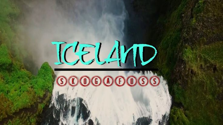 Skogafoss waterfall Iceland drone aerial