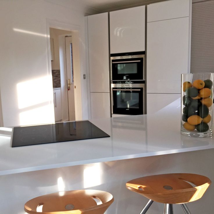 schuller kitchen with silestone worksurfaces