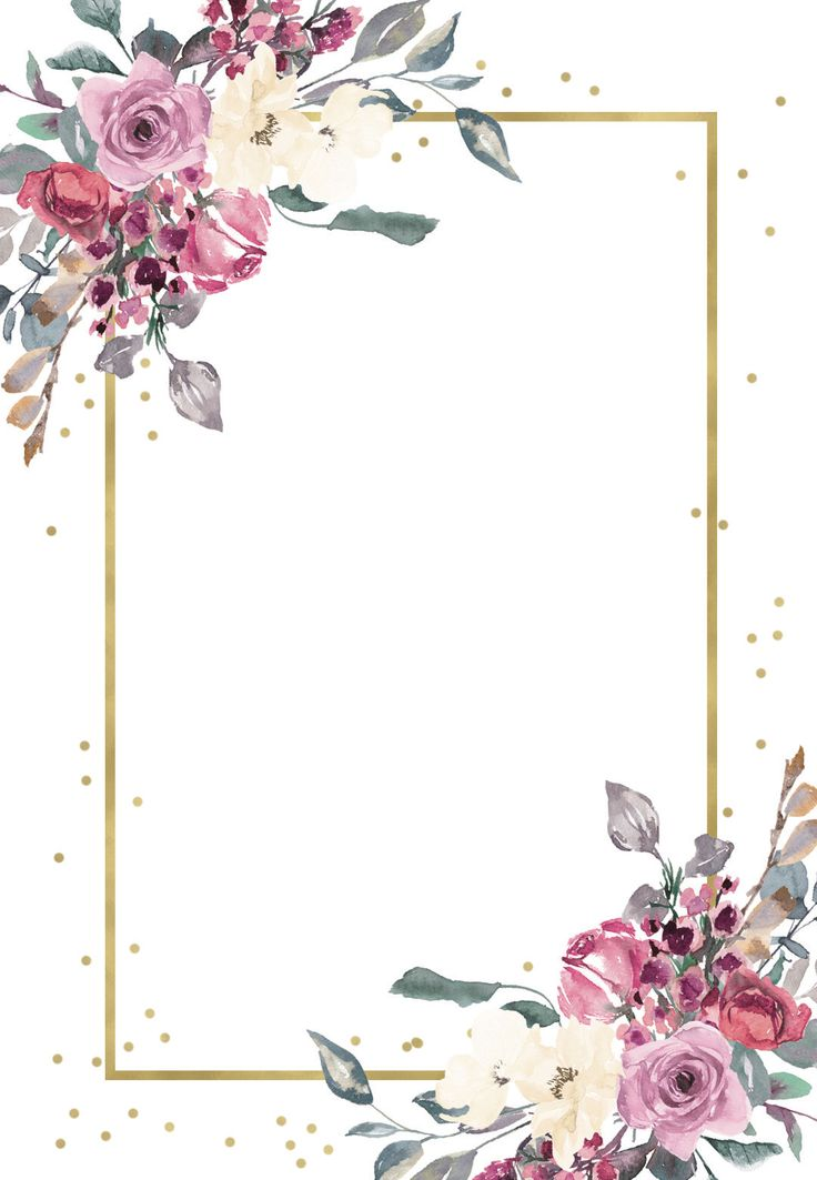 flowers and golden frame