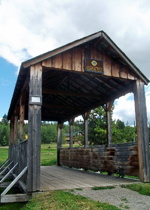 Covered bridge, 108 Mile Ranch, Canada