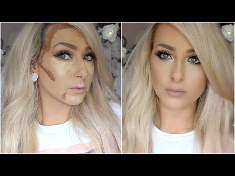 How I Cream contour and highlight (drugstore) - YouTube