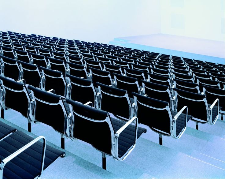 Is there better auditorium seating than this?  Eames Aluminum Group by @vitra #eames