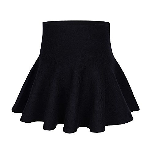 89cd82fd166a Mesinsefra Little Big Girls' High Waist Knitted Flared Pleated Skater Skirt  Casual Age 2-14Y