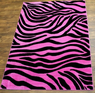 Superior 2383 Pink Fuscia Zebra Rug By Concord Global. Soo Cute :)