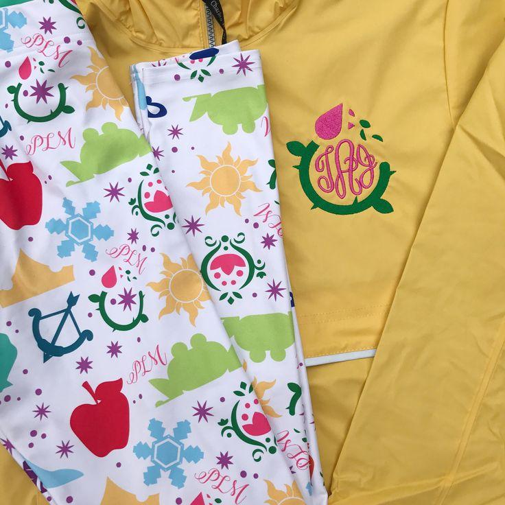 Enchanted Rose Monogram Rain Jacket