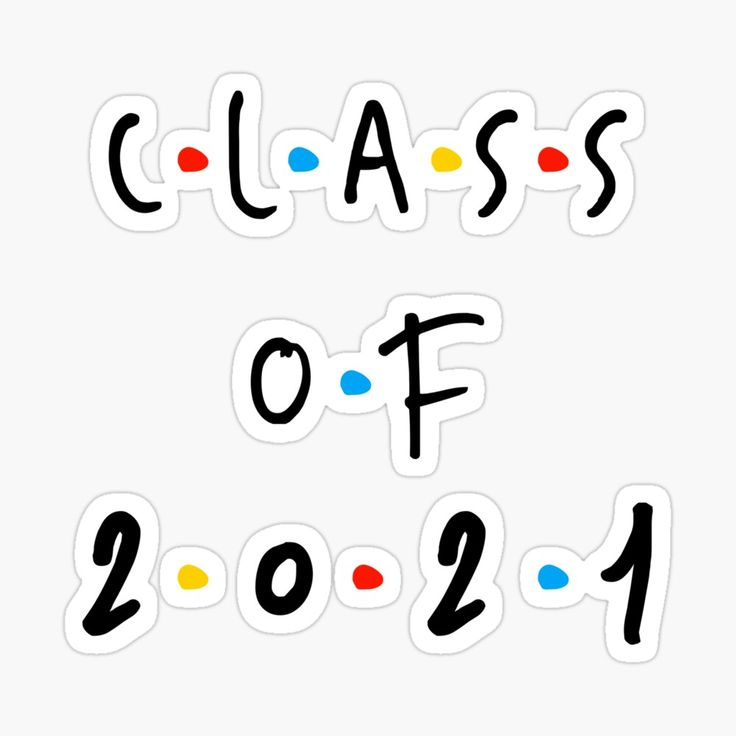 'Class of 2021' Glossy Sticker by Hannah Boss in 2020
