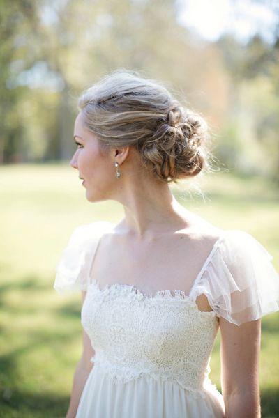 Such a feminine dress.  Georgia Wedding by Paperlily Photography « Southern Weddings Magazine