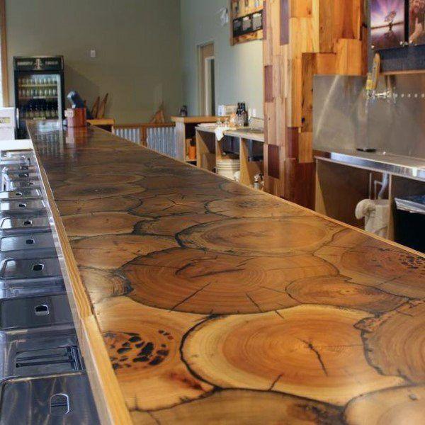 Custom Log Design Home Basement Bar Designs Rustic Bar Bars