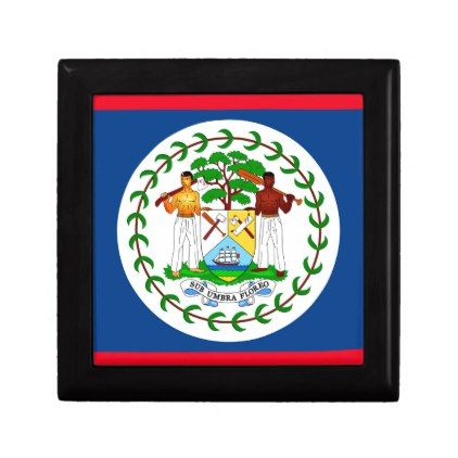 #Belize flag keepsake box - #country gifts style diy gift ideas