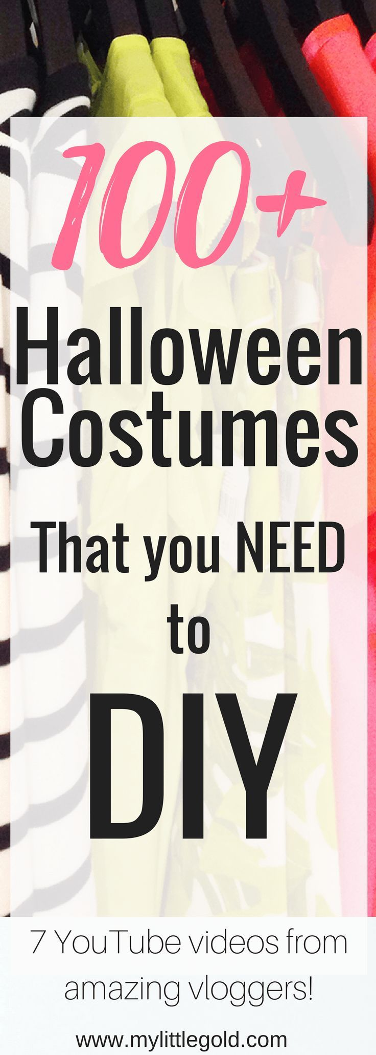 100+ Costume ideas that you NEED to DIY this Halloween!  Easy simple fun funny couple costume