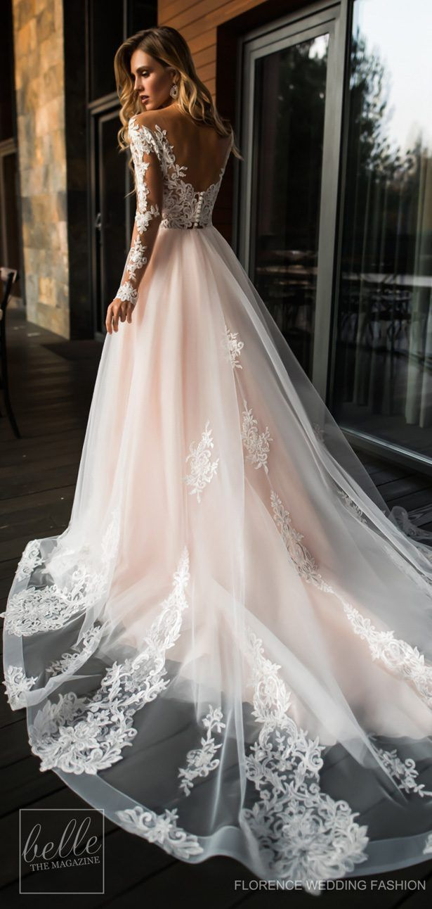 Wedding Dresses By Florence Wedding Fashion 2019 Despacito Bridal Collection Belle The Magazine Off Shoulder Wedding Dress Wedding Dress Long Sleeve Wedding Dress Sleeves [ 1292 x 615 Pixel ]