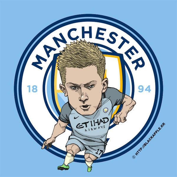 Manchester City No.17 Kevin De Bruyne Fan Art