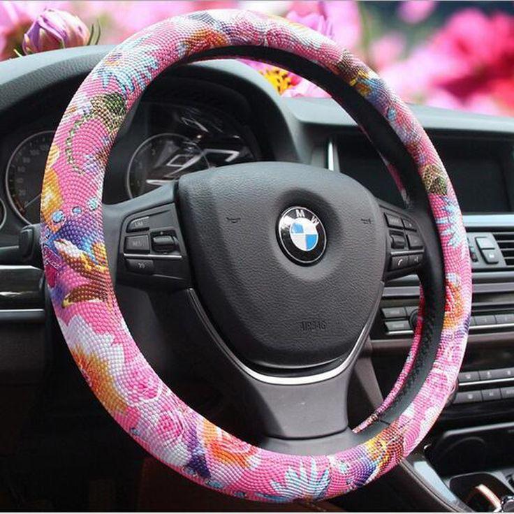 Купить товарСпециальный заказ новое персонализированные и милый автомобиль розовый руль PU кожи с цветы для большинства стайлинга автомобилей # S134 в категории Чехлы для руля управленияна AliExpress.              Примечание:                         1. для различных хорошие удельная работа разрыва метод, размера могут с