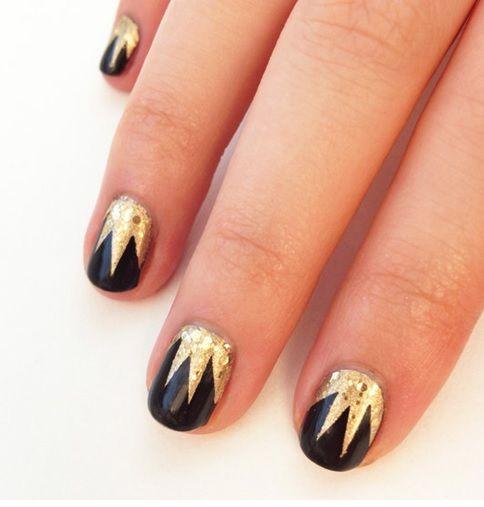 pow, blam, bang, boom design nails