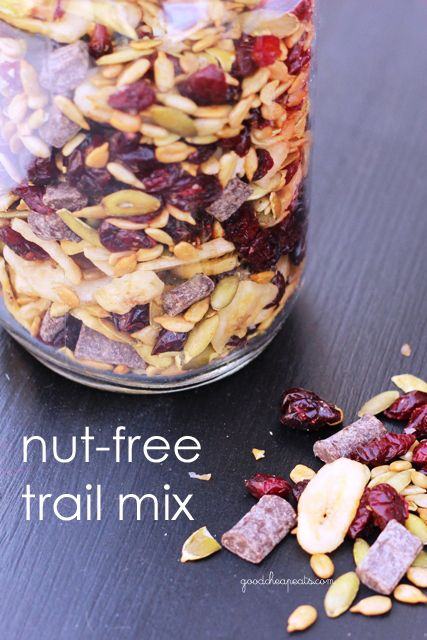 Nut Free Trail Mix. We're calling it Monkey Munch. :) Pretty much addicting. Great snack to pack.