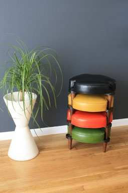 MIDCENTURY MODERN stacking ottomans