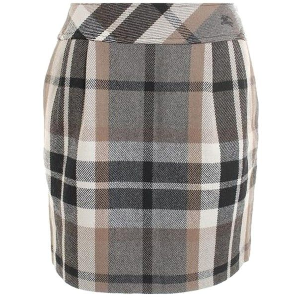 Pre-owned Burberry M Mini Skirt ($130) ❤ liked on Polyvore featuring skirts, mini skirts, beige, women skirts, see through skirt, sheer mini skirt, short skirts and sheer maxi skirt