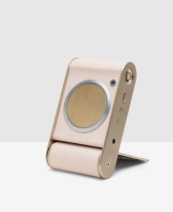 Folding portable speaker