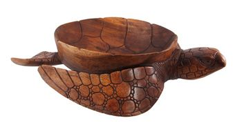 Hand Carved Mahogany Sea Turtle Large Centerpiece Bowl for displaying fruit - Love it!