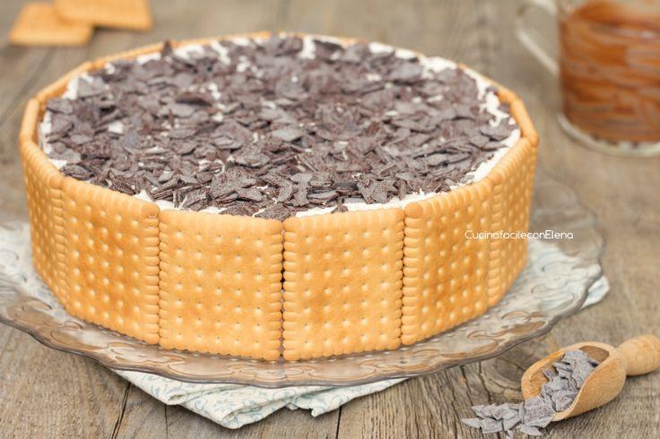 torta fredda di biscotti mascarpone e nutella intera