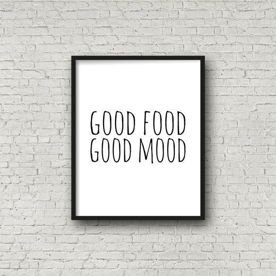 Spectacular Gutes Essen gute Laune Essen Geschenk Essen Print Food Art K chenkunst