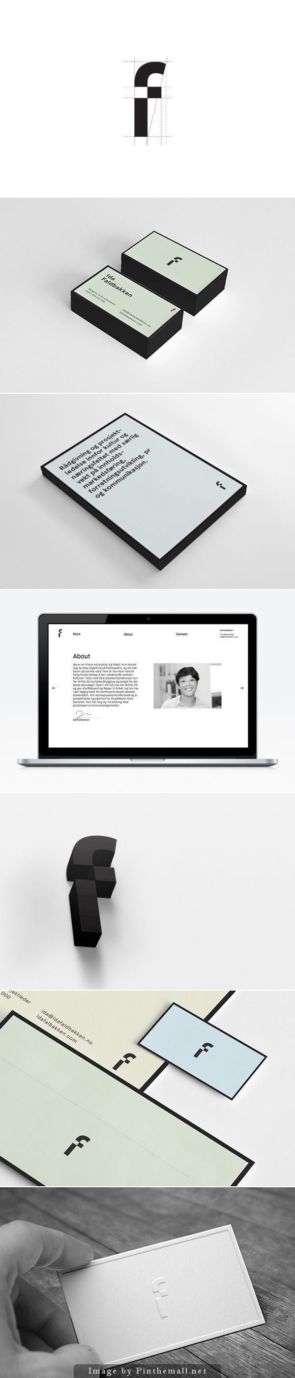 Ida Faldbakken is a freelance project manager and concept developer in Oslo, Norway. She has worked with a range of different project the past years, including Øyafestivalen.  The identity is intended to reflect Ida's ability to adapt to all kinds of projects, ranging from music to business development, art or marketing. #branding #idafaldbakken
