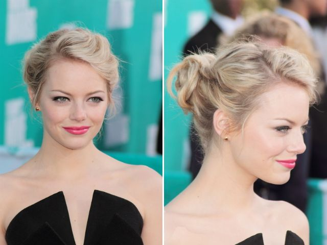 Steal This Hot Hair Look: Emma Stone's Romantic Updo