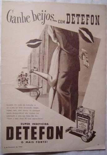 propaganda inseticida detefon  publicação revista O Cruzeiro - 2 Fevereiro de 1952 -