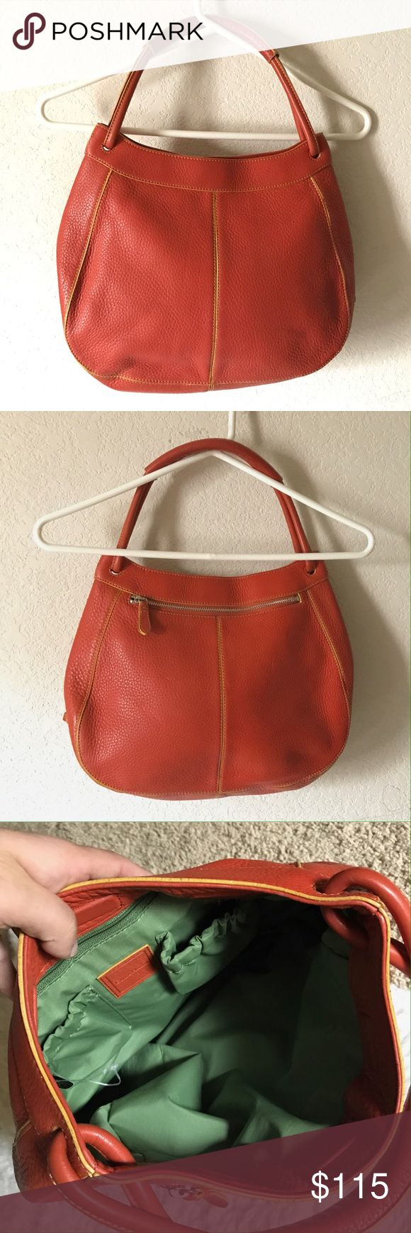 Cole Haan Hobo Shoulder Bag Cole Haan Hobo Shoulder Bag Color: Orange No Stains or holes. Last picture is of the pocket within the bag. Cole Haan Bags Hobos