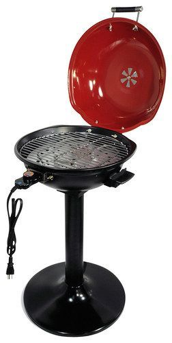 "Better Chef - 15"" Electric Barbecue Grill - Red/Black"