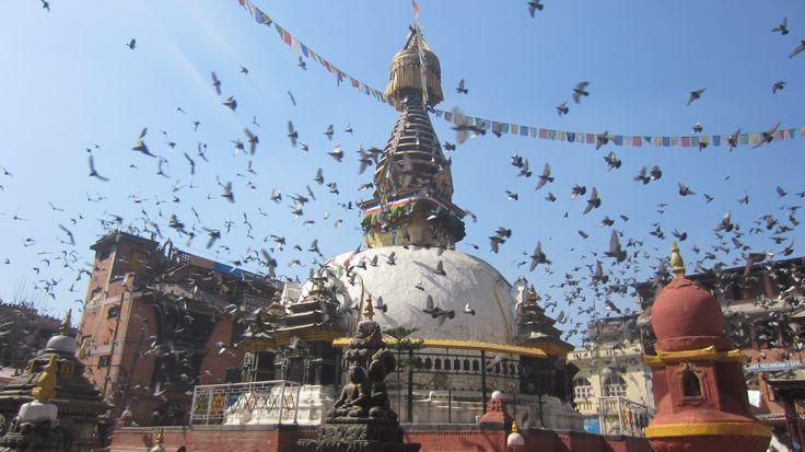 square in Thamel, the heart of Kathmandú