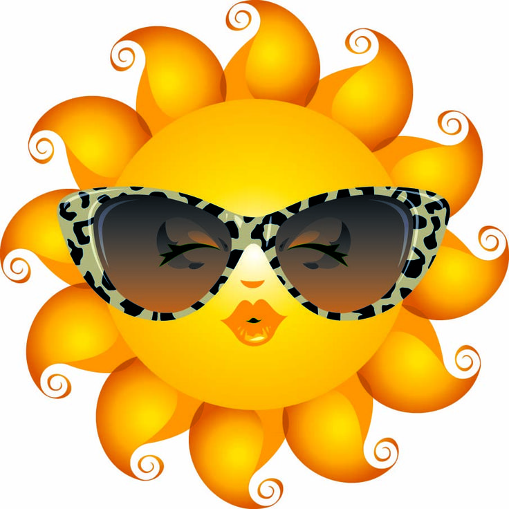 sun with sunglasses emoticon - Google Search